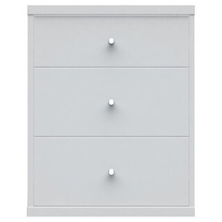 Manhattan Comfort Astor 2.0 MDF Wood 3-drawer Nightstand (2 options available)