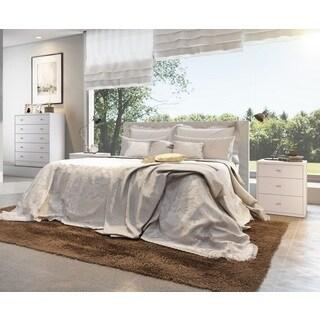 Manhattan Comfort Astor 2.0 White Wood Bedroom Dresser and Nightstand (Set of 2)