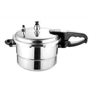 Wee's Beyond Silver/Black Aluminum 7.4-quart Pressure Cooker