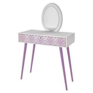 Accentuations by Manhattan Comfort Mora White and Lavender Vanity and Mirror Set https://ak1.ostkcdn.com/images/products/12674326/P19460329.jpg?impolicy=medium
