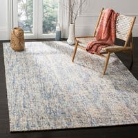 Safavieh Handmade Modern Abstract Dark Blue / Rust Wool Rug - 6' x 9'
