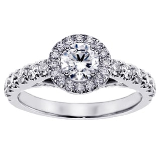 14k or 18k White Gold 1 1/2ct TDW Brilliant-cut Large Diamond Engagement Ring