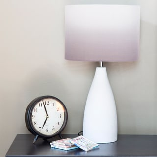 River of Goods Modern Grey/White Ombre Concrete/Fabric 21.5-inch Table Lamp