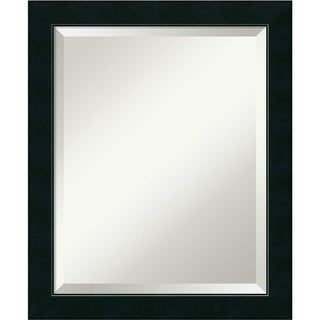 Bathroom Mirror Medium, Nero Black 19 x 23-inch
