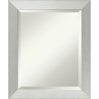 Bathroom Mirror Medium, Brushed Sterling Silver