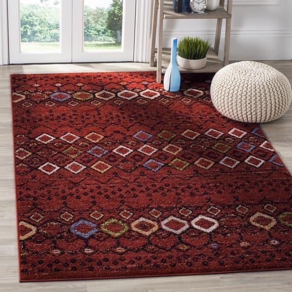 5x8 Area Rugs Amazon: Safavieh Amsterdam Bohemian Terracotta / Multicolored Rug
