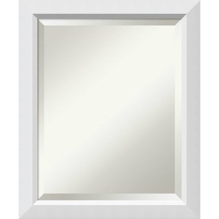 Bathroom Mirror Medium, Fits Standard 24-inch to 28-inch Cabinet, Blanco White 19 x 23-inch