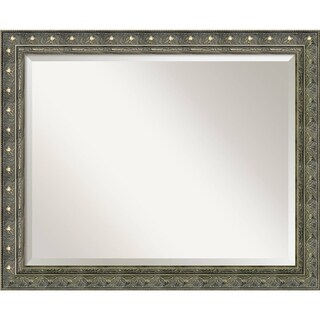 Bathroom Mirror Large, Fits Standard 30-inch to 36-inch Cabinet, Barcelona Champagne 32 x 26-inch