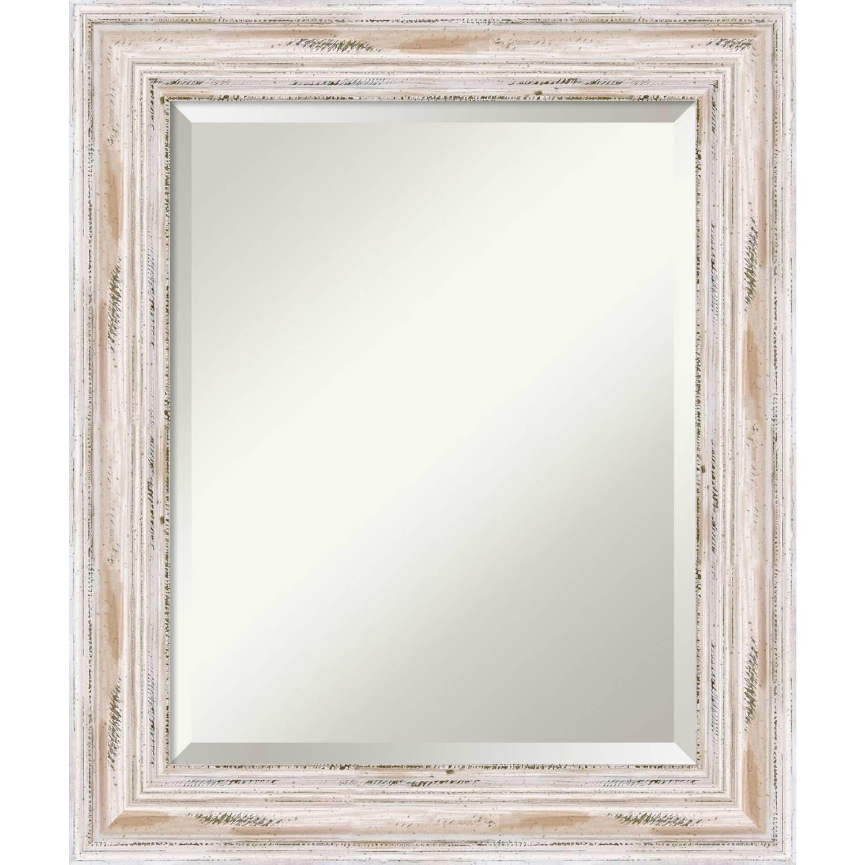 Shop Bathroom Mirror Medium, Alexandria White wash 21 x 25-inch ...