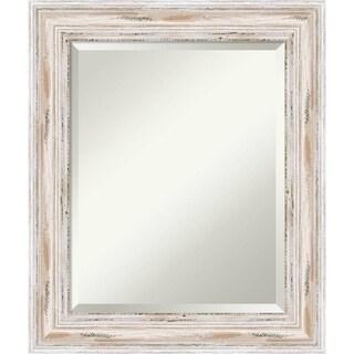 Bathroom Mirror Medium, Alexandria White wash 21 x 25-inch