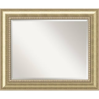 Bathroom Mirror Large, Fits Standard 30-inch to 36-inch Cabinet, Astoria Champagne 35 x 29-inch