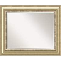 Bathroom Mirror Large, Astoria Champagne 35 x 29-inch - Gold