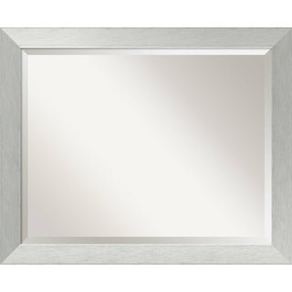Bathroom Mirror Large, Brushed Sterling Silver 32 x 26-inch - 26 x 32 x 0.882 inches deep