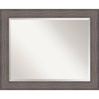 Bathroom Mirror Large, Fits Standard 30-inch to 36-inch Cabinet, Country Barnwood 34 x 28-inch