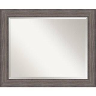 Bathroom Mirror Large, Country Barnwood - Grey