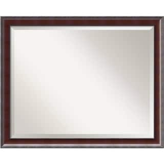 Bathroom Mirror Large, Fits Standard 30-inch to 36-inch Cabinet, Country Walnut 31 x 25-inch