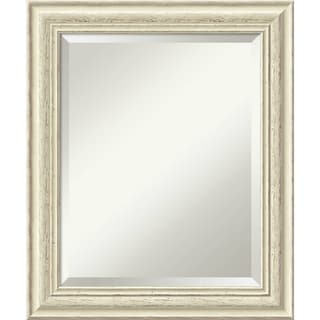 Bathroom Mirror Medium, Fits Standard 24-inch to 28-inch Cabinet, Country Whitewash 21 x 25-inch