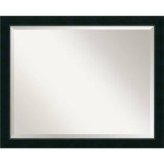 Bathroom Mirror Large, Fits Standard 30-inch to 36-inch Cabinet, Nero Black 31 x 25-inch