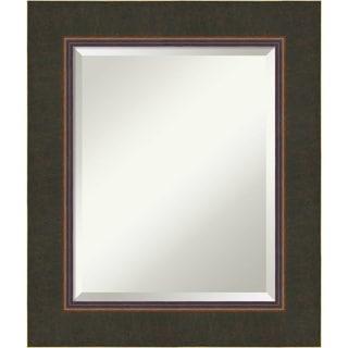 Bathroom Mirror Medium, Fits Standard 24-inch to 28-inch Cabinet, Milano Bronze 23 x 27-inch