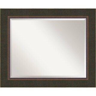 Bathroom Mirror Large, Fits Standard 30-inch to 36-inch Cabinet, Milano Bronze 35 x 29-inch