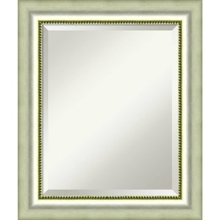 Bathroom Mirror Medium, Vegas Burnished Silver 21 x 25-inch