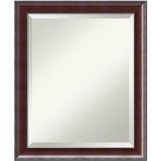 Bathroom Mirror Medium, Fits Standard 24-inch to 28-inch Cabinet, Country Walnut 19 x 23-inch