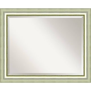 Bathroom Mirror Large, Fits Standard 30-inch to 36-inch Cabinet, Vegas Burnished Silver 33 x 27-inch