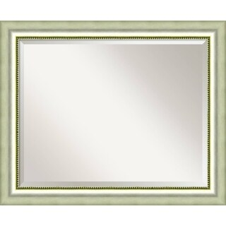 Bathroom Mirror Large, Vegas Burnished Silver 33 x 27-inch