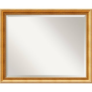 Bathroom Mirror Large, Fits Standard 30-inch to 36-inch Cabinet, Townhouse Gold 31 x 25-inch