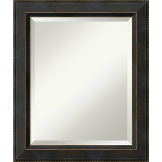 Bathroom Mirror Medium, Signore Bronze 21 x 25-inch