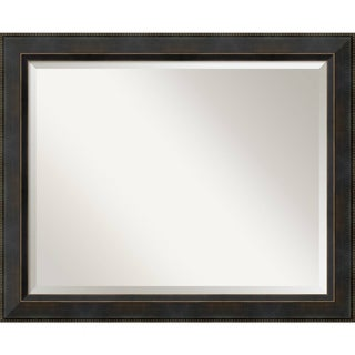 Bathroom Mirror Large, Fits Standard 30-inch to 36-inch Cabinet, Signore Bronze 33 x 27-inch