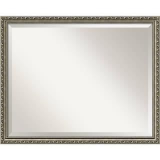 Bathroom Mirror Large, Parisian Silver 31 x 25-inch - 24.25 x 30.25 x 0.981 inches deep