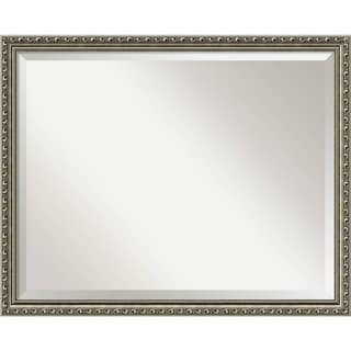 Bathroom Mirror Large, Fits Standard 30-inch to 36-inch Cabinet, Parisian Silver 31 x 25-inch