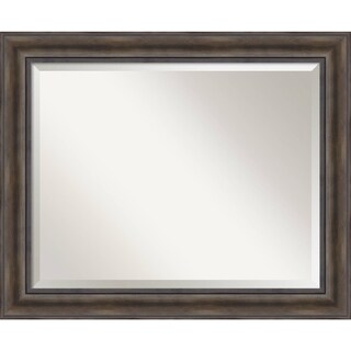 Bathroom Mirror Large, Fits Standard 30-inch to 36-inch Cabinet, Rustic Pine 34 x 28-inch