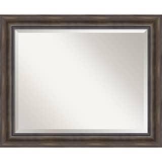 Bathroom Mirror Large, Rustic Pine 34 x 28-inch