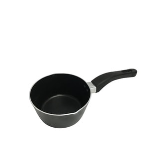 Wee's Beyond Black Aluminum 1.1-quart Nonstick Sauce Pan with Two Pour Spouts