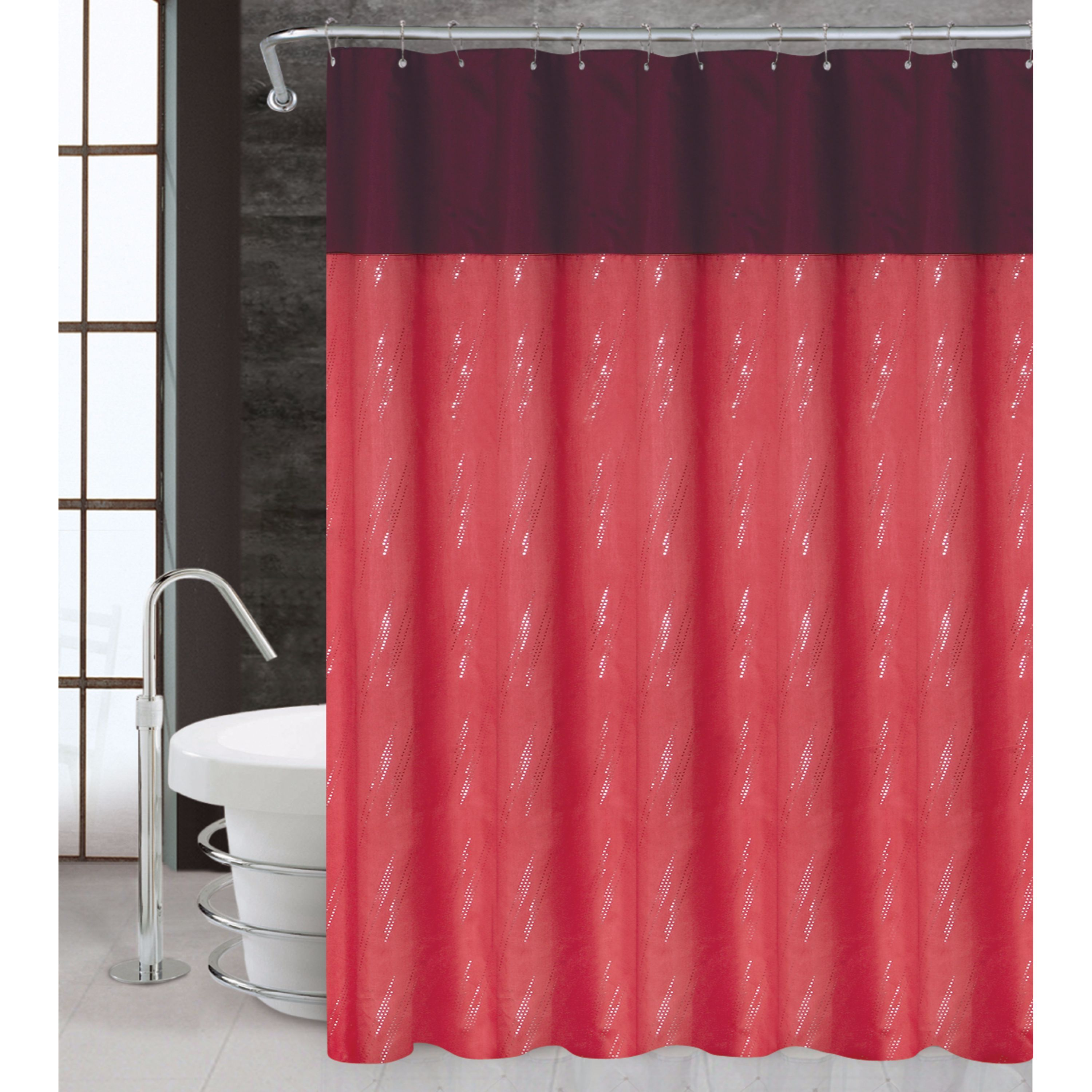Rain by Artistic Linen Easy To Hang Polyester Shower Curt...