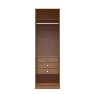 Manhattan Comfort Chelsea 1.0 Natural Wood 7.55-inches Wide 3-drawer Wardrobe Closet
