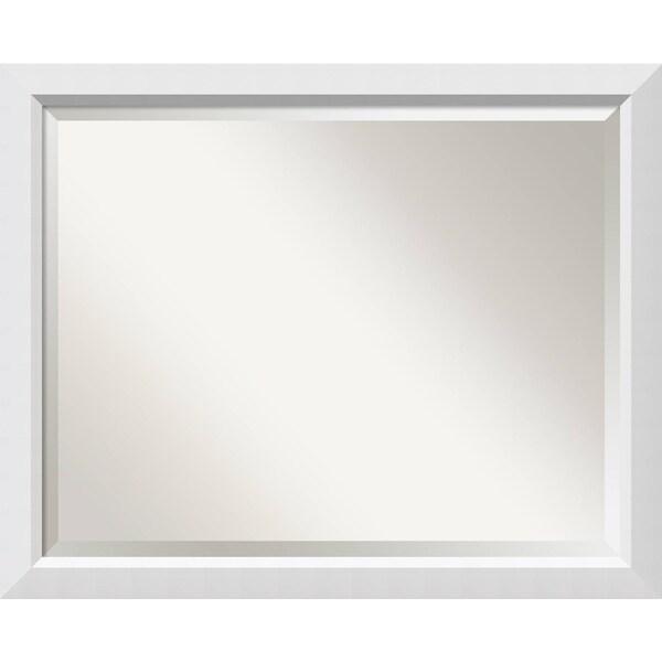 Bathroom Mirror Large, Blanco White 32 x 26-inch - 26 x 32 x 0.963 inches deep