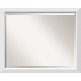 Bathroom Mirror Large, Fits Standard 30-inch to 36-inch Cabinet, Blanco White 31 x 25-inch