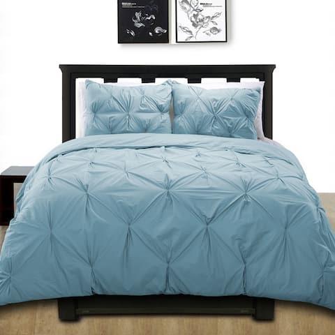 Cottonpure 100-percent Cotton Pintuck Duvet Cover Mini Set