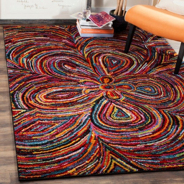 Safavieh Aruba Abstract Multi Colored Rug 5 X 8 Free