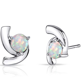 Oravo Multicolored Opal Sterling Silver Ribbon Earrings