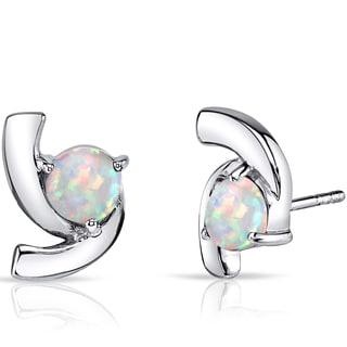 Oravo Multicolored Opal Sterling Silver Ribbon Earrings