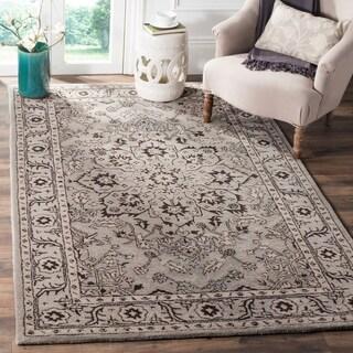 Safavieh Handmade Antiquity Grey / Beige Wool Rug (5' x 8')