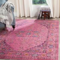 Safavieh Artisan Vintage Bohemian Fuchsia Pink Distressed Rug (5' x 8')