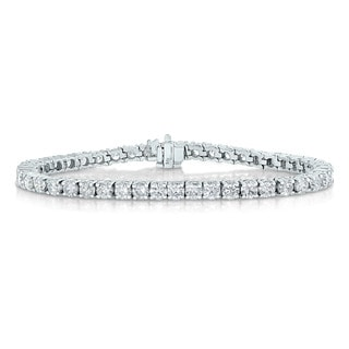 14k White Gold 2ct TDW Diamond Tennis Bracelet (I-J, I2-I3)