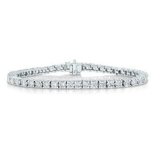 14k White Gold 2ct TDW Diamond Tennis Bracelet