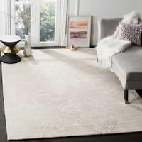 Safavieh Handmade Bella Paisley Silver / Beige Wool Rug - 6' x 9'