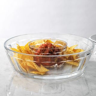 Maison Panel Clear Glass Chips and Dips Set